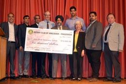 Vancouver rotarians promote literacy asian pacific post for Jaswant s bains